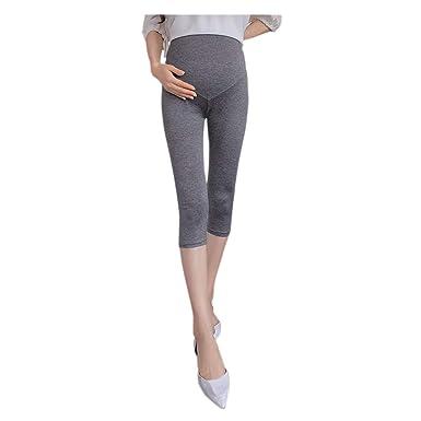 Hzjundasi Maternidad Tricotar Pantalones - Embarazada Mujer ...