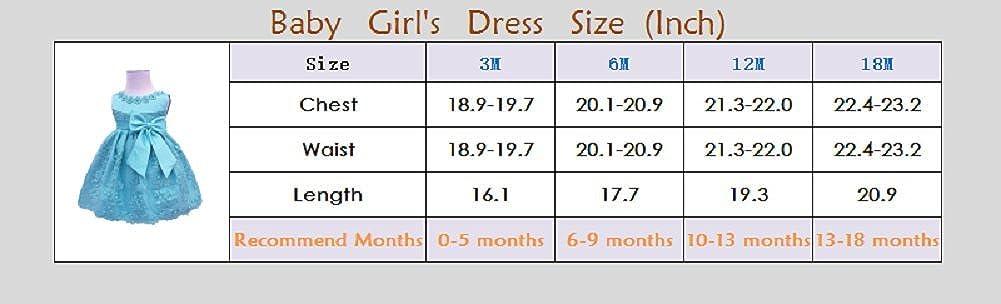 HX Baby Girls Newborn Bowknot Gauze Christening Baptism Dress Infant Flower Girls Wedding Dresses 13 Color