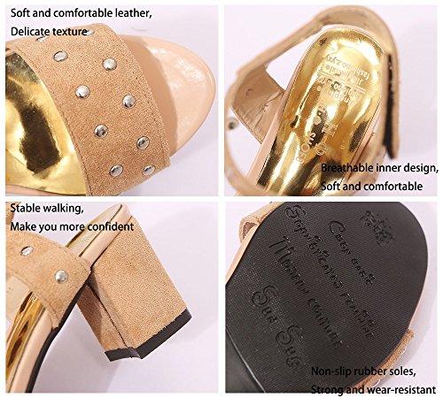 Dames Sexy Décontractées De Kaki Color Soirée Khaki noir Mode Nouvelles 2018 Femmes Noir Sandales Chaussures Taille Confort 36 Été 0xWzXgq