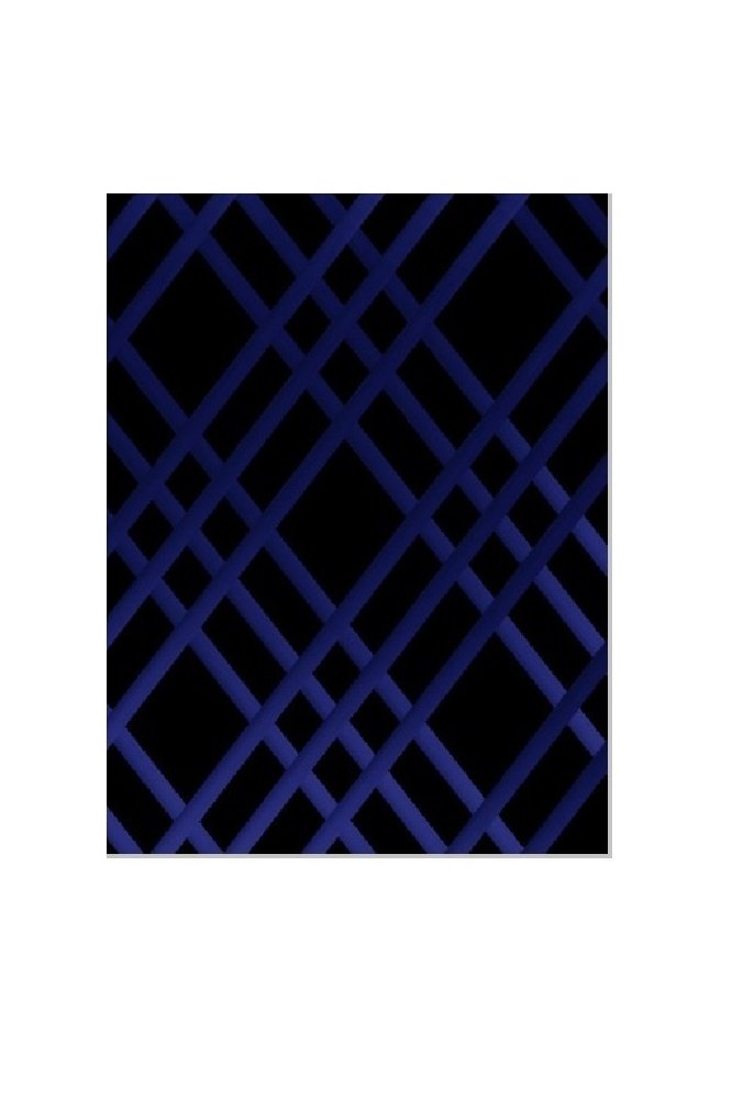 Bulletin-Memo Board and Picture Frame: Black and Blue (Small (15'' x 20''))