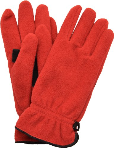 style-co-womens-gloves-fleece-palm-patch-leather-red-one-size