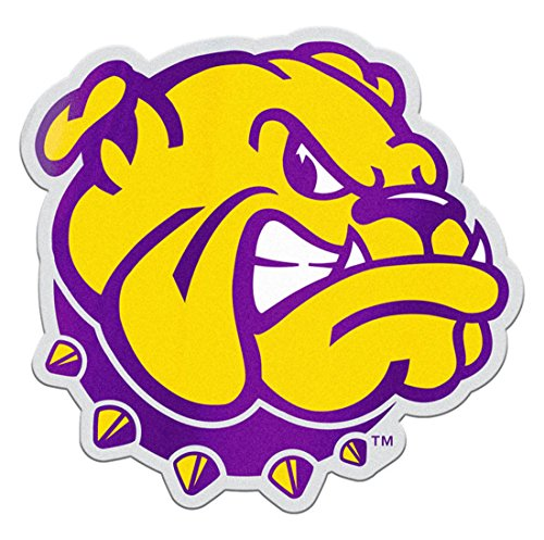 Illinois Plate Stickers - Western Illinois University Leathernecks Auto Badge Decal, hard thin plastic 4.25x3.9 inches