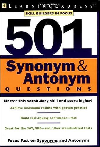 Amazon 501 synonym antonym questions 501 series 501 synonym antonym questions 501 series 1st edition m4hsunfo
