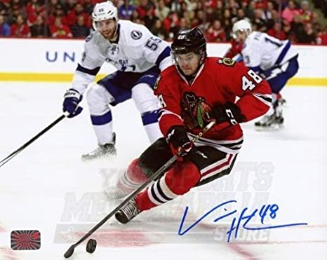 new style 25afc 840a2 Vinnie Hinostroza Chicago Blackhawks Signed Autographed Home ...