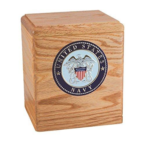 Wood Cremation Urn - Oak Freedom Military - Cremation Urn Wood Oak