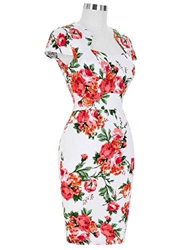 Vestido GRACE de Corta 15 Floral Lápiz Lunares KARIN Manga ES7597 Vintage Vestido 5SUrxCSw