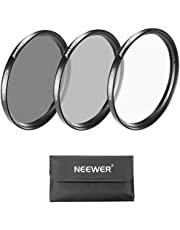 Neewer 49MM Lens Filter Kit:UV Filter+CPL Filter+ND4 Filter+Filter Pouch for Sony Alpha NEX Cameras with 18-55MM,55-210MM,50MM,16MM,30MM lenses and Canon EF 50MM f/1.8 STM Lens