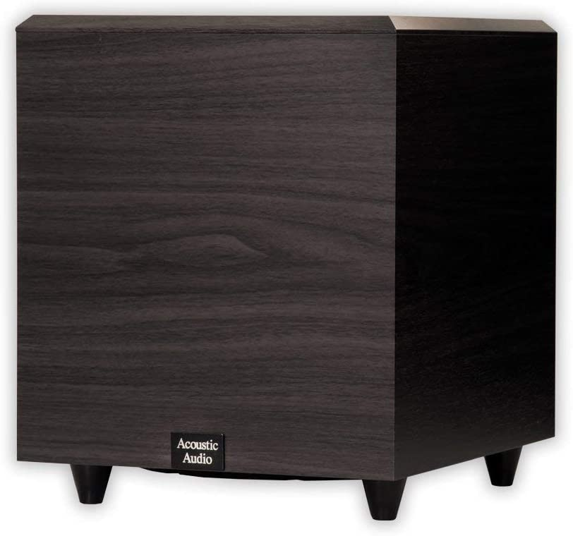 Acoustic Audio PSW-10 400 Watt 10-Inch Down Firing Powered Subwoofer (Black) (Renewed)