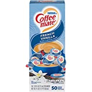 Nestle Coffee mate Coffee Creamer, French Vanilla, Liquid Creamer Singles, Box of 50 Singles