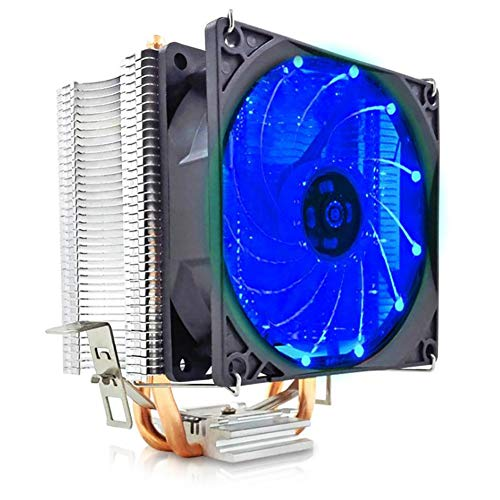 CawBing CPU Radiator Double Copper Tube Ultra-Quiet AMD1155 Desktop Computer Cooling CPU Fan