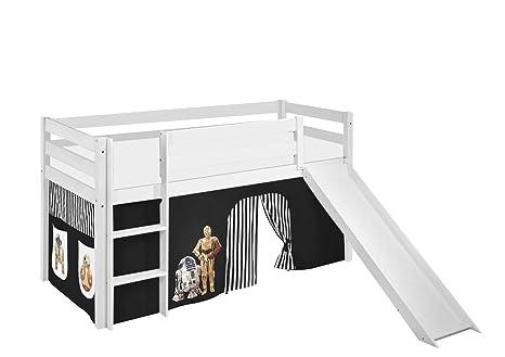 Etagenbett Hochbett Spielbett Kinderbett Jelle 90x200cm Vorhang : Lilokids spielbett jelle star wars hochbett mit rutsche und