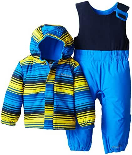 Columbia Baby Boys' Fresh Pow Set, Hyper Blue Print