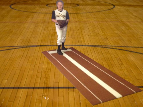 Pitching Mound (All Turf Mats PB36108 3' x 9' Clay Softball Pitchers Pitching Mound Mat With Power Lane Pro)