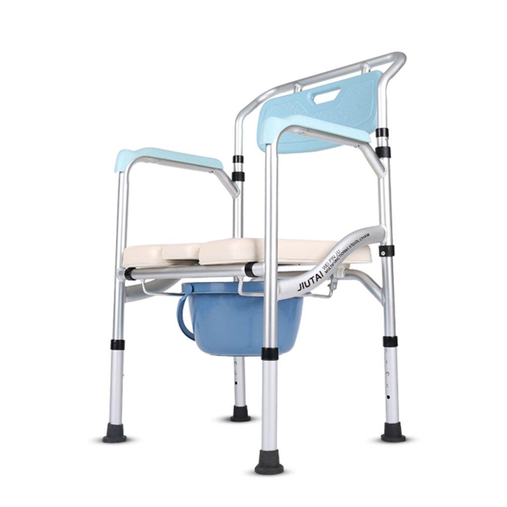 LXN 椅子バスチェア折りたたみ式高さ調整可能妊婦老人トイレチェア丈夫な防水 B07DYJBSD2