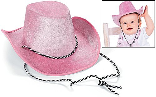 Fun Express Small Toddler-Sized Pink Cowboy Hat, 17 3/4