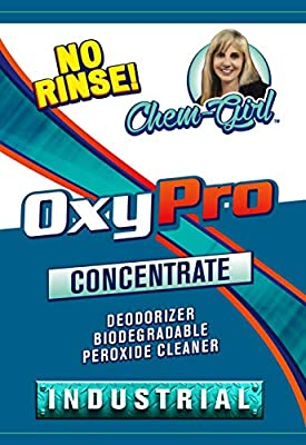 OxyPro Biodegradable Peroxide Concentrate - Hard Water Stains, Rust, Mold & Mildew Cleaner - Carpet, Upholstery, Laundry, Tile - 1 Gallon