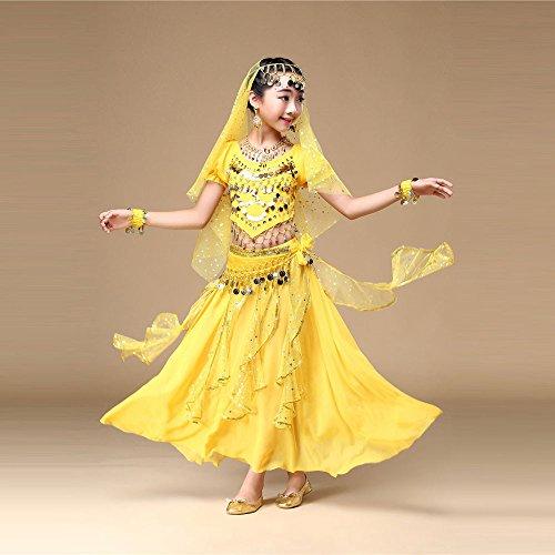 Giallo Abito Ballerina Lungo Cosplay Vestito Pageant Cerimonia Bambini Ragazze Fiore Battesimo Festa Zarupeng Abiti Ragazze Arcobaleno Per Sera Carnevale Compleanno Nozze XqftfvwRWx