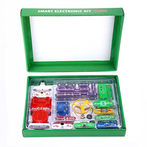 YKS Electronics Discovery Kit, Electronics Block Kit, Educational Science Kit, DIY Toy Projects for Kids (43 Plastic Snap Mm)