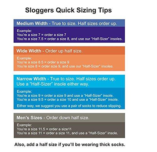 Sloggers 260BK09 speedback itcentre turgente, negro, tamaño 9