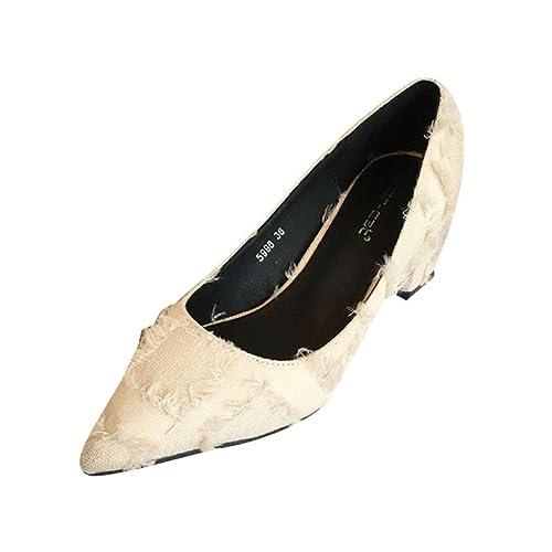 Tacones de Mujer Zapatos Afilados Pantalones Vaqueros ...