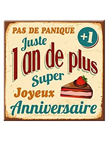 Plaque Message Anniversaire 1 An De Amazon Co Uk Toys Games