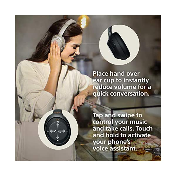 Sony Noise Cancelling Headphones WH1000XM3: Wireless Bluetooth Over the Ear Headset with Mic for phone-call and Alexa… 4