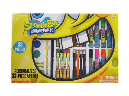spongebob-squarepants-personalized-33-piece-art-set-nickelodeon-stationary-art-supplies