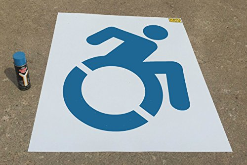 Accessible Icon Stencil - Large Light Duty Handicap Stencil for Parking Lot **NEW DESIGN**
