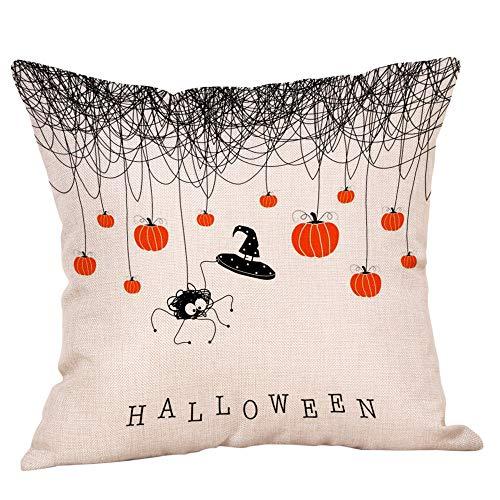 Halloween Pillows Cover,KIKOY Painted printing Fall Decor Sofa Throw Cushion Cover -