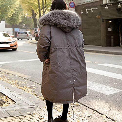 Coton À Fourrure Hiver En Overcoat Chaud Collier Gris Doudoune Capuche Long Susenstone Chaude Femmes Veste Slim Pardessus Épais Manteau E5Rwxqx6