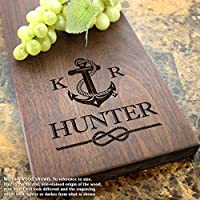 Anchor and Rope Nautical Personalized Cheese Board - Wedding Gift, Anniversary Gift, Housewarming Gift, Birthday Gift. #804