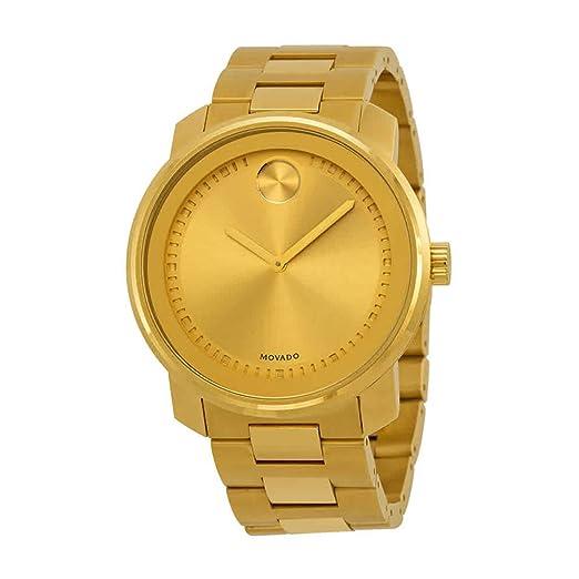 Movado Bold 3600258 - Reloj, Correa de Acero Inoxidable Color Dorado: Amazon.es: Relojes