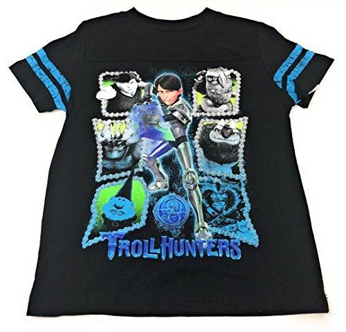 Dreamworks Troll Hunters Short Sleeve Boys Graphic T-Shirt (Black, S)