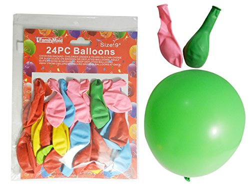 Dollaritemdirect 24 pcパーティーバルーン、Asst色サイズ: 9、