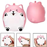 ShenPr Squishy Jumbo Kawaii Bear Scented Squishies Slow Rising Decompression Squeeze Toys (Pink)