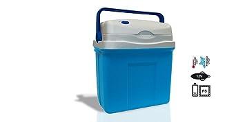 Nevera bolsa nevera térmica cálido frío portátil eléctrica 25 L azul ...