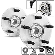 Dodge Dakota | Mitsubishi Raider W/ ABS 513229 Pair of 5-Bolt Front Wheel Hub and Bearing Assembly