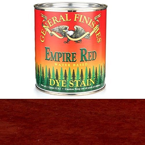 General Finishes DQR Water Based Dye, 1 quart, Empire Red