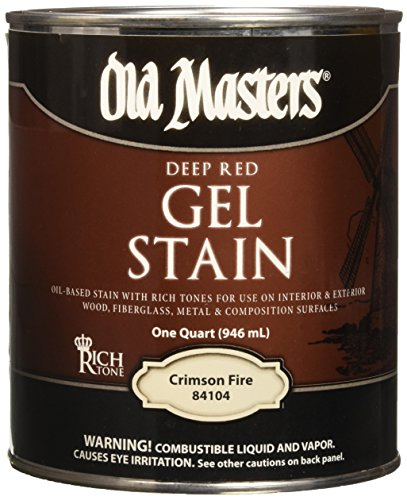 Old Masters 158798 84104 Gel Stain Crimson Fire Oil-Based