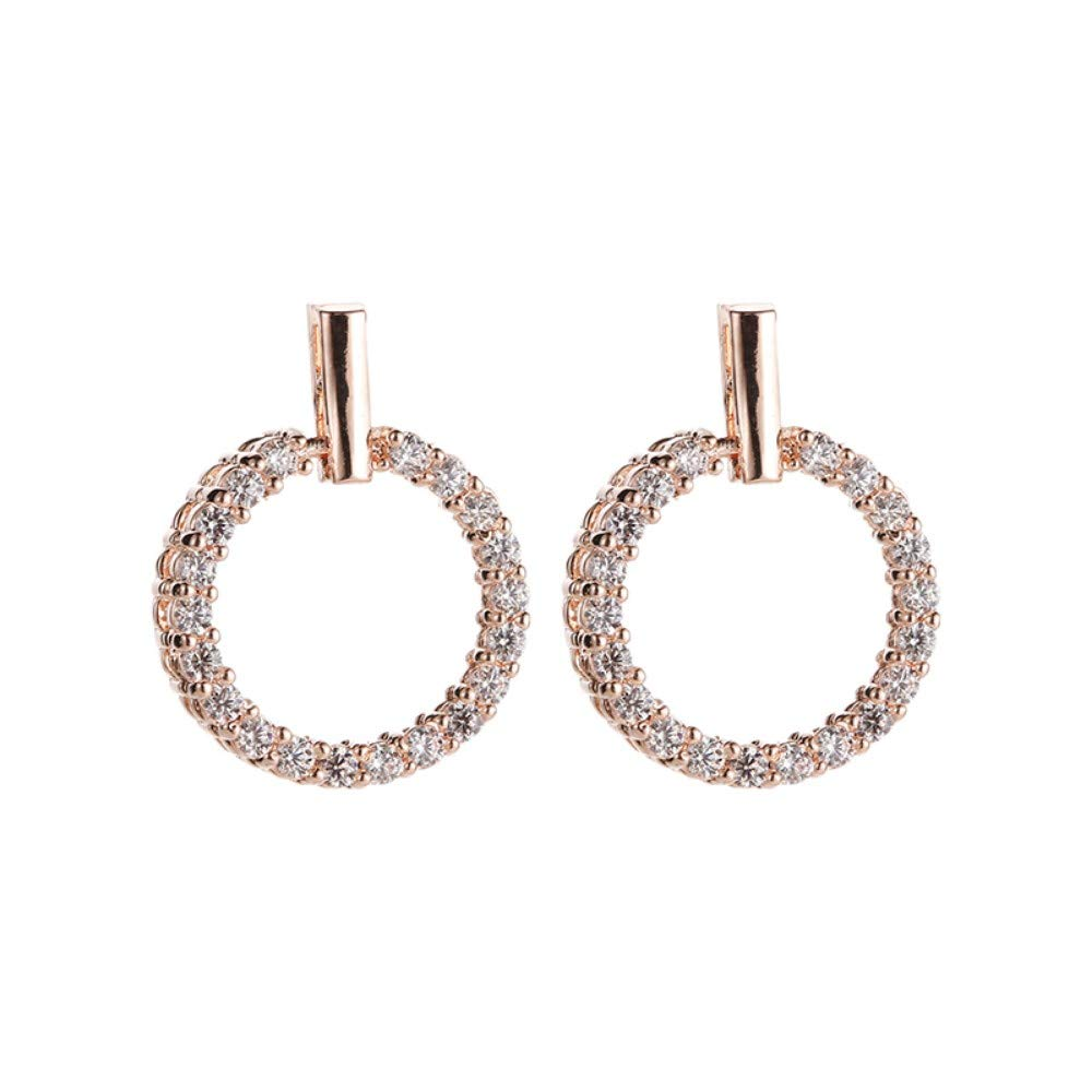 Ahyf Earring Round Earrings Earrings Personality Fashion Wild Temperament Female
