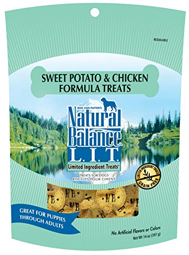 Natural Balance L.I.T. Limited Ingredient Dog Treats, Grain Free, Sweet Potato & Chicken Formula, 14-Ounce