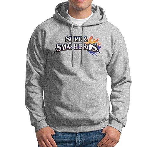 Price comparison product image DETO Men's Super Smash Bros. For Wii U Sweatshirt Ash Size XL