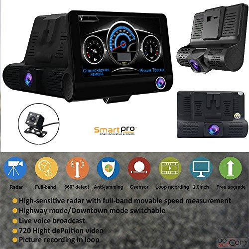 (RADAR DETECTOR, 2018 NEW 2 IN 1 CAR SPEED TRAP DETECTOR, WITH HD DVR DASH CAM, 2 in 1 HD DASH CAM by SMART TECH)