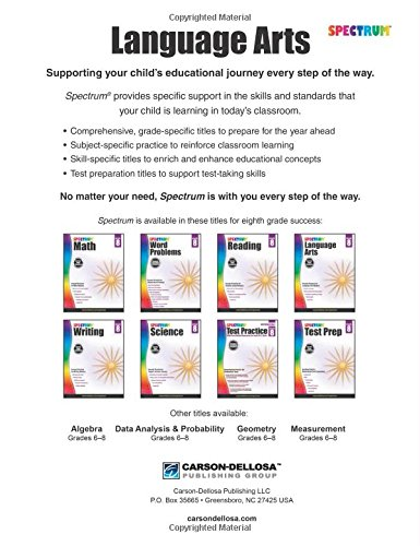 Workbook elementary art worksheets : Spectrum Language Arts, Grade 8: Spectrum: 9781483812120: Amazon ...