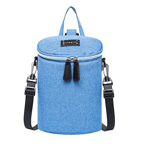 Multifunktionale Mutter-Kind-Tasche, Portable Mommy Windel Taschen Wasserdichte Schultertaschen Blau