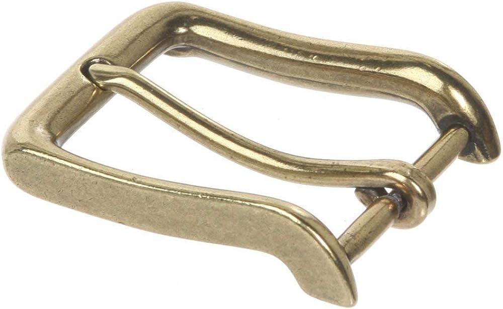 BBBelts Men Antique Silver Smooth 1 Prong Rectangular Buckle For 1-3//8 Belts