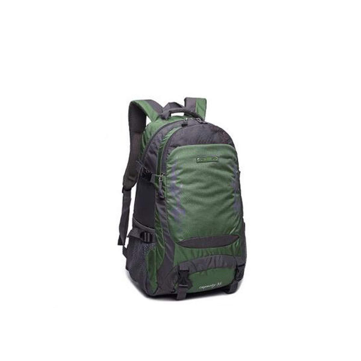 Color : ArmyGreen Purple ArmyGreen Rose Red) Blue Chenjinxiang01 Large-Capacity Backpack Leisure Travel Light Waterproof Outdoor Mountaineering Bag 30L(Black Orange