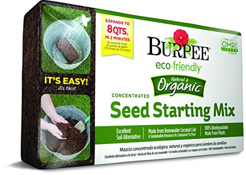 Burpee 8 qt Organic Coir Compressed Seed Starting Mix 1-Brick ()