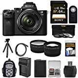 Sony Alpha A7 II Digital Camera & 28-70mm FE OSS Lens with 64GB Card + Backpack + Battery + Tripod + Tele/Wide Lens Kit
