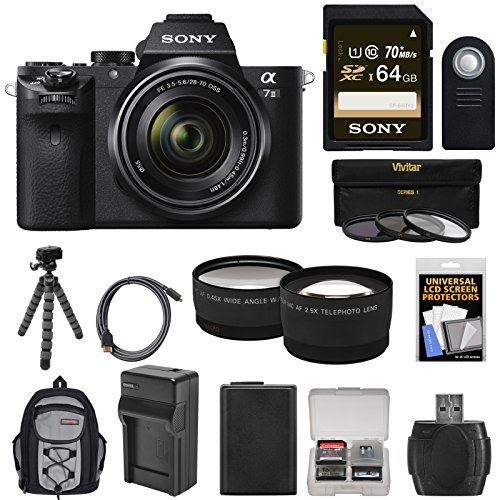 sony-alpha-a7-ii-digital-camera-28-70mm-fe-oss-lens-with-64gb-card-backpack-battery-tripod-tele-wide